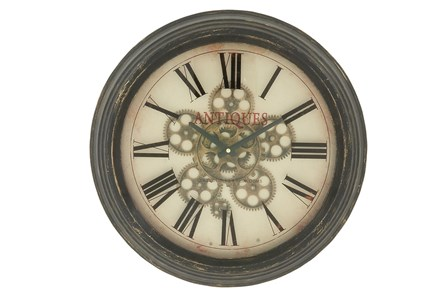 18 Inch Metal Wall Clock - Main