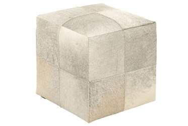 16 Inch Cubed Hide Ottoman