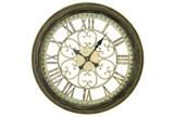 24 Inch Metal Wall Clock - Signature