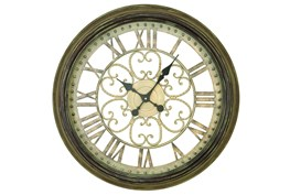 24 Inch Metal Wall Clock