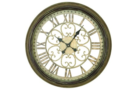 24 Inch Metal Wall Clock - Main