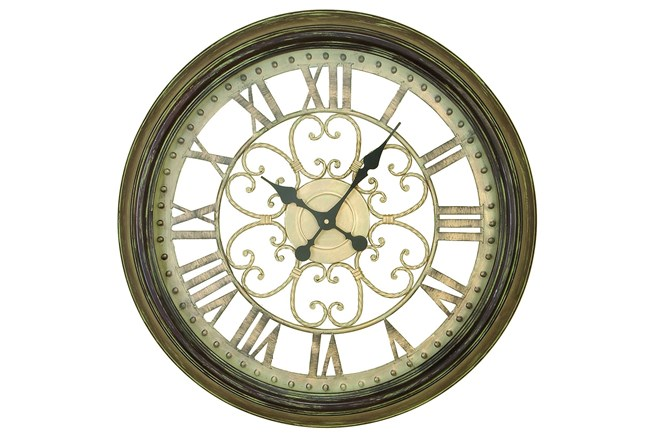 24 Inch Metal Wall Clock - 360