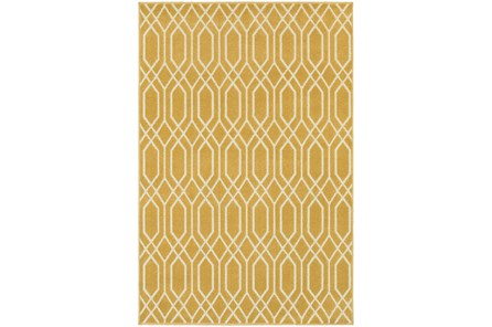 79X114 Rug-Canary Lattice