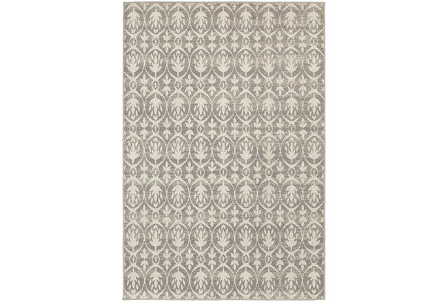 39x60 Rug Silver Damask Living Spaces