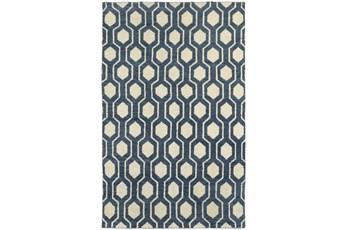 42X66 Indigo Honeycomb