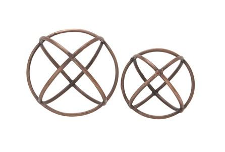 2 Piece Set Aluminum Ring Orbs