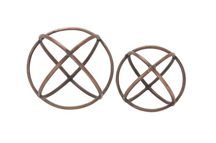 2 Piece Set Aluminum Ring Orbs - Main