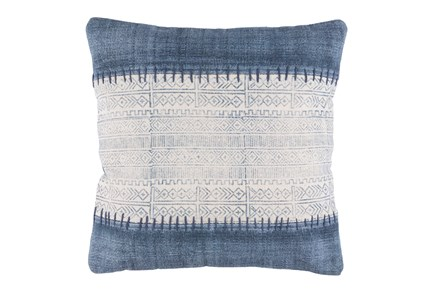 Accent Pillow-Borough Indigo Stripes 20X20 - Main