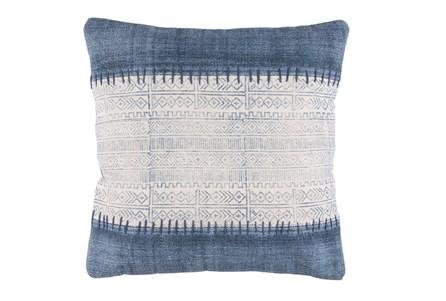 Accent Pillow-Borough Indigo Stripes 20X20 - Main