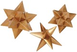 3 Piece Set Polystone Gold Star Decor - Signature