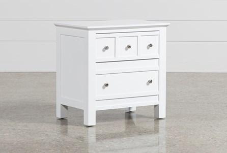 Bayside White 2-Drawer Nightstand