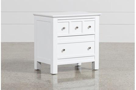 Bayside White 2-Drawer Nightstand - Main