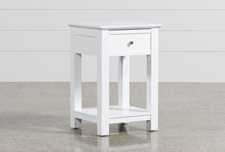 Bayside White 1-Drawer Nightstand