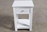 Bayside White 1-Drawer Nightstand - Left