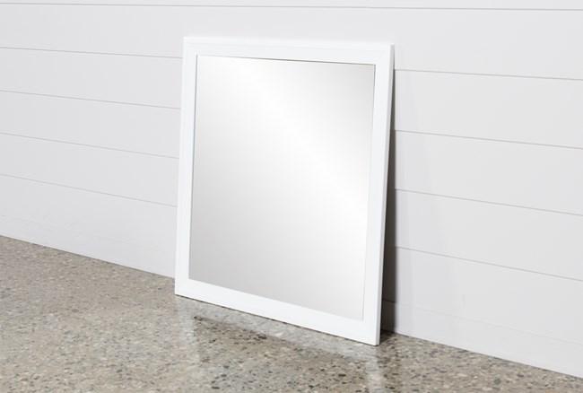 Bayside White Mirror - 360