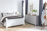 Bayside White Queen Poster Bed - Room
