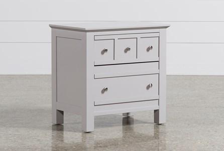 Bayside Grey 2-Drawer Nightstand