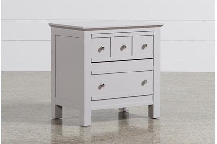 Bayside Grey 2-Drawer Nightstand - Main