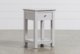 Bayside Grey 1-Drawer Nightstand