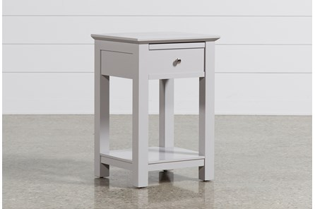 Bayside Grey 1-Drawer Nightstand - Main