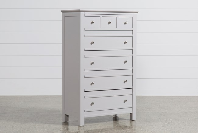 Bayside Grey Chest Of Drawers - 360