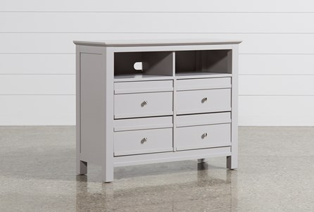 Bayside Grey Media Chest