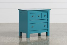 Bayside Blue 2-Drawer Nightstand