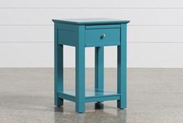 Bayside Blue 1-Drawer Nightstand