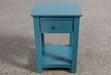 Bayside Blue 1-Drawer Nightstand - Left