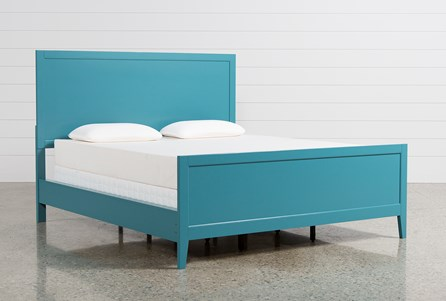 Bayside Blue Eastern King Panel Bed