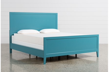 Bayside Blue California King Panel Bed - Main