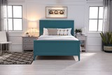 Bayside Blue California King Panel Bed - Room