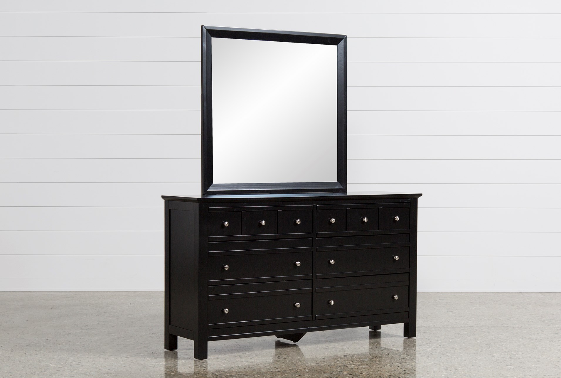 black dresser with mirror Bayside Black Dresser/Mirror | Living Spaces black dresser with mirror
