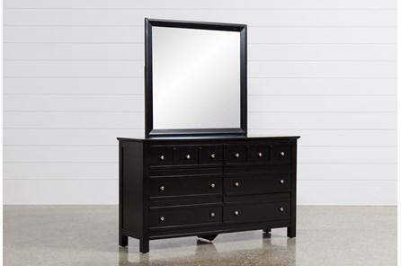 Bayside Black Dresser/Mirror - Main