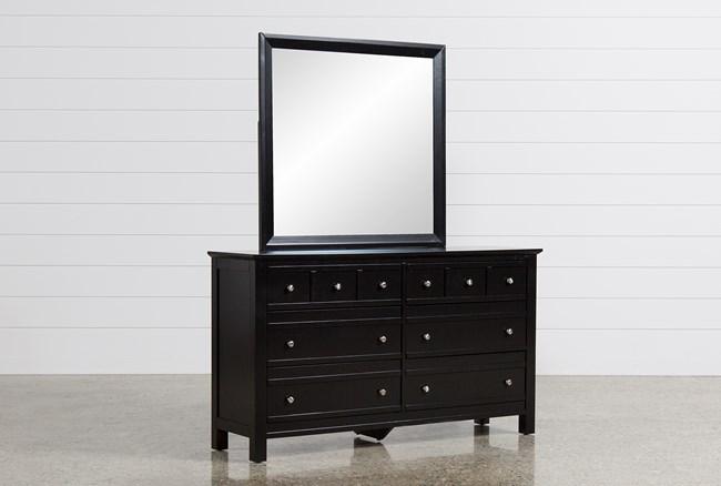 Bayside Black Dresser/Mirror - 360