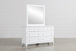 Bayside White Dresser/Mirror