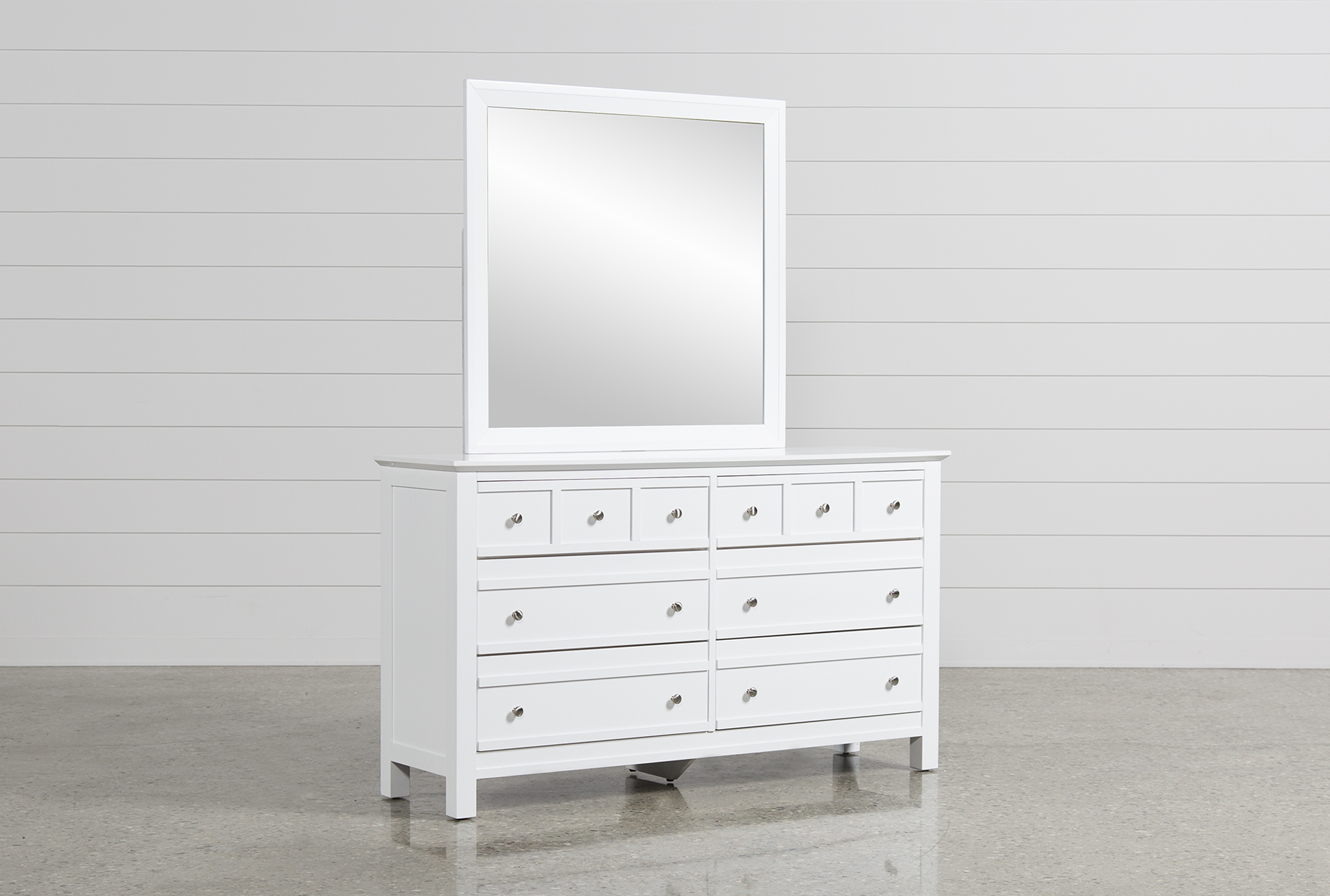 Bayside White Dresser/Mirror (Qty: 1) Has Been Successfully Added To Your  Cart.