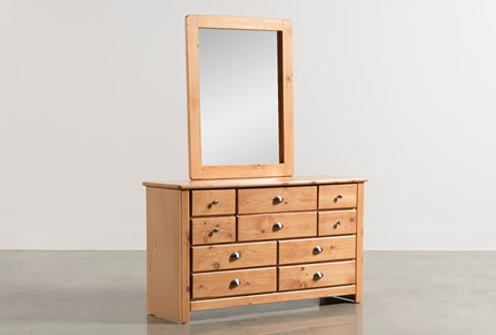 Summit Caramel Dresser/Mirror