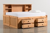 Summit Caramel Full Roomsaver Bed With 4- Drawer Storage Unit - Back