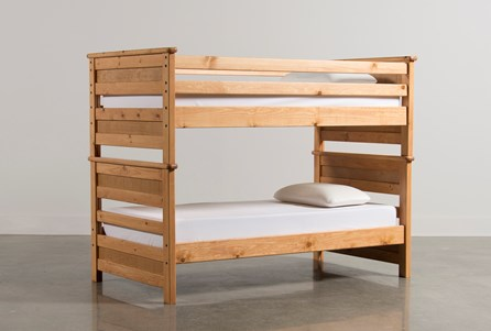 Summit Caramel Twin Over Twin Bunk Bed
