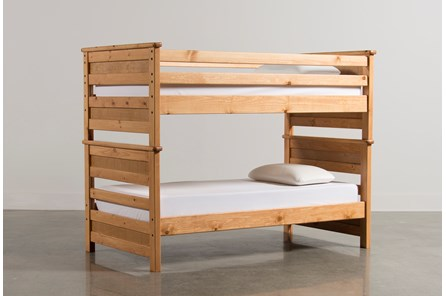Summit Caramel Twin Over Twin Bunk Bed - Main
