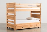 Summit Caramel Twin Over Twin Bunk Bed With Trundle With Mattress - Signature