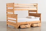 Summit Caramel Twin Over Full Bunk Bed With 2- Drawer Underbed Storage - Back