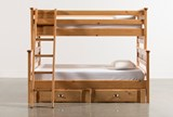 Summit Caramel Twin Over Full Bunk Bed With 2- Drawer Underbed Storage - Left