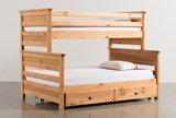 Summit Caramel Twin Over Full Bunk Bed With Trundle With Mattress - Signature