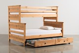 Summit Caramel Twin Over Full Bunk Bed With Trundle With Mattress - Back