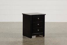 Summit Black Nightstand