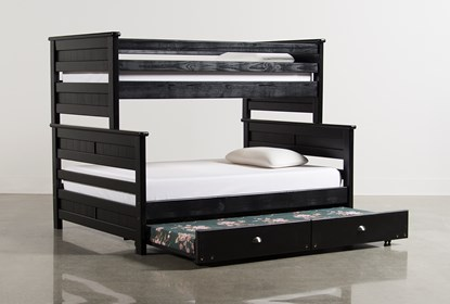 Summit Black Twin Over Full Bunk Bed