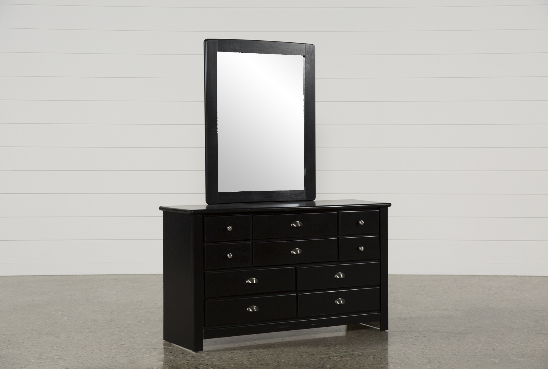 Summit Black Dresser Mirror Living Spaces