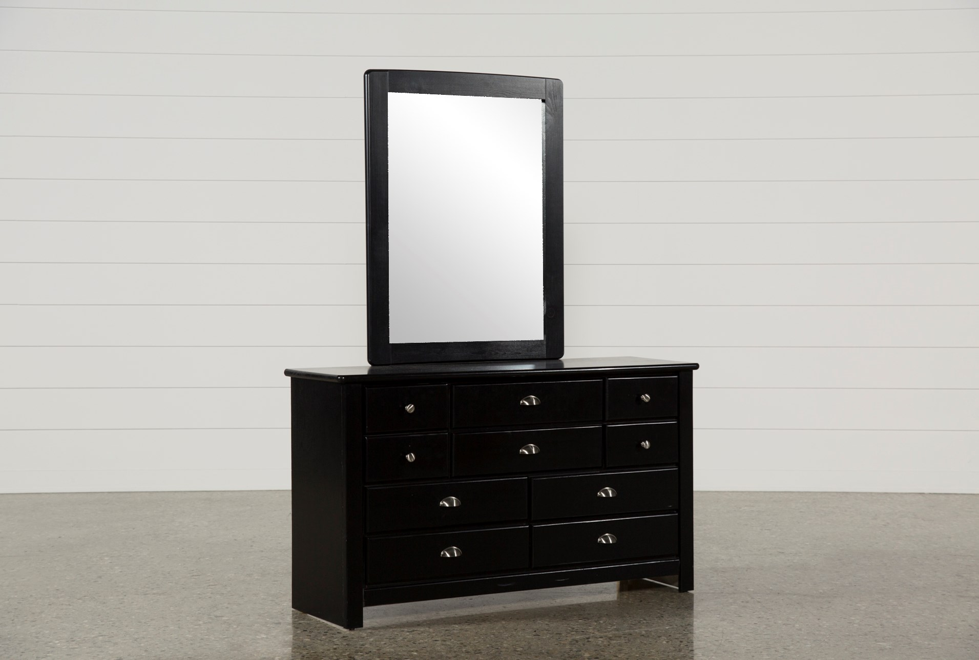 Summit Black Dresser Mirror Living Spaces